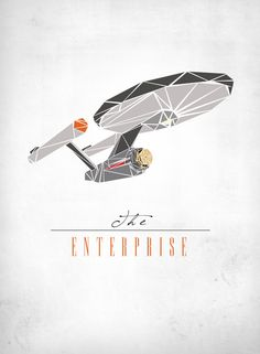 The Enterprise Art Print - Anyone else think of paper piecing or mosaics?