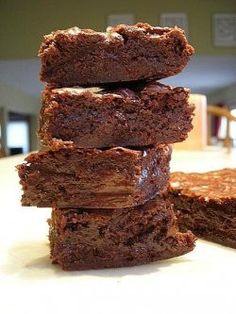 VERY quick and easy brownie recipe!I make this recipe often when I just want to whip something up real quick!Great and yummy for company.