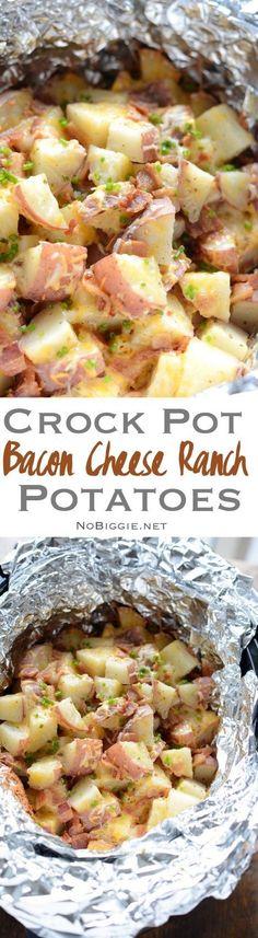 crock pot bacon ranch cheesy potatoes | NoBiggie.net