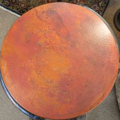 copper end table at traditions has the colors we may want to accent with area
