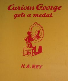 Curious George Gets a Medal (1957) Under the cover