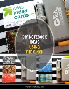Make your own DIY mini notebooks with the Cinch by We R Memory Keepers using postcards, index cards, and leftover scrapbooking paper!
