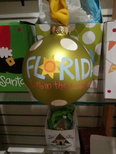 LUV Florida, SUNSHINE & this great ornament from Cotton Colors!  Get it at Downeast on Park Avenue in Winter Park!  #Downeast #CottonColors #Florida #LoveFL #ILUVWINTERPARK