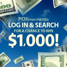 There's still time........Today 1 lucky searcher will win $1,000 fast cash! What are you searching for? http://bit.ly/PCHSearchandWin_…