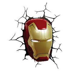 The Avengers 3D Wall Art Nightlight - Iron Man Face : Target