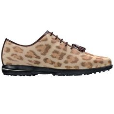 These FootJoy Women's Tailored Collection Golf Shoes feature a stylish, out of the box cheetah print design. Find a wide selection of FootJoy Women's Golf Shoes at Golf Headquarters! Spikeless Golf Shoes, Womens Golf Shoes, Shoes Women, Best Sneakers, Sneakers Fashion, Fashion Shoes, Shoes 2016, Ladies Golf, Shoe Sale