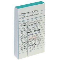 Kate Spade Library Card Small Notepad KSP136544