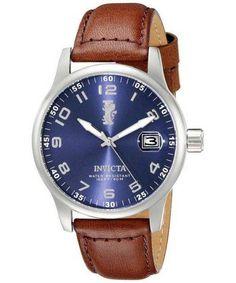 Invicta I-Force Quartz 15254 Men's Watch Dark Brown Leather, Stainless Steel Watch, Watches For Men, Quartz, Accessories, Products, Pointers, Dark Brown, Stainless Steel