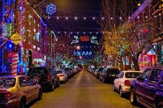 """13th Street in South Philadelphia is one of """"America's Best Streets for Christmas Lights,"""" per Thrillist"""