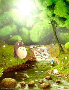 My Neighbor Totoro - love the lighting