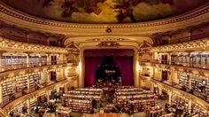 El Ateneo, Buenos Aires. Theatre come bookstore. The world's most beautiful bookshops. || via BBC Culture.