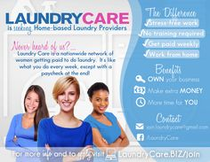 Join our team of Home-based Laundry Care Providers!  #workfromhome #sahmjobs #earnextraincome #laundryloversunite #makemoneyfromhome