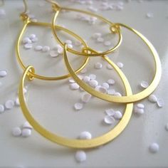 adorn512-Handstamped Jewelry - Personalized Mother Jewelry — Serena earrings gold/silver hoops