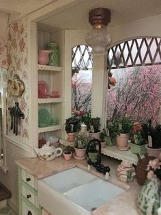 """♡ on Twitter: """"… """" Fairytale Cottage, Storybook Cottage, Fairytale Bedroom, Cocina Shabby Chic, Shabby Chic Cottage, Miniature Kitchen, Miniature Dollhouse, Miniature Houses, Pretty Room"""