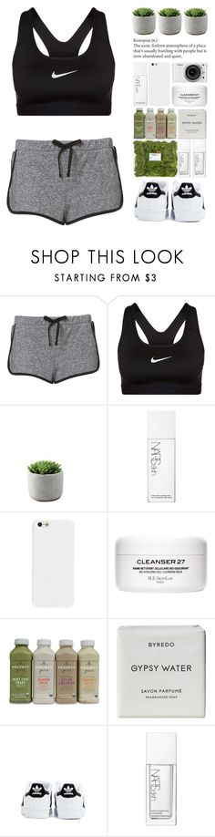 """""""Don't matter how far I've gone I'm always free to run home."""" by one-styles ❤ liked on Polyvore featuring NIKE, NARS Cosmetics, Nikon, Byredo and adidas"""
