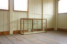 古い木枠の5面ガラスケース アンティークショーケース Antique glass case ¥32000yen 〆04月13日