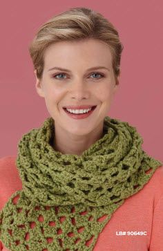 Lion Brand® Nature's Choice Organic® Cotton Flights of Fancy Scarf  #crochet #pattern