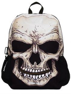 """""""Mr Peterson Skull"""" Backpack by Mojo Backpacks (Black)"""