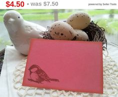SALE Bird Place Cards Food Buffet Label Tags Set by LazyDayCottage