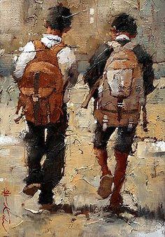 Pintura a óleo sobre tela de Andre Kohn