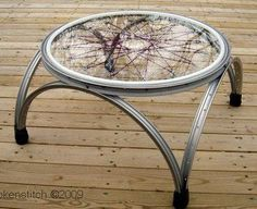 diy furniture upcycle 17 Ways to Upcycling A Bicycle - Giddy Upcycled, Bicycle Decor, Bicycle Rims, Bicycle Wheel, Bicycle Art, Bike Wheels, Bicycle Crafts, Repurposed Furniture, Diy Furniture, Farmhouse Furniture