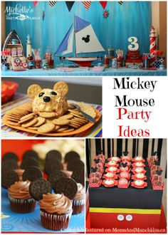 Mickey Mouse Birthday Party Ideas #MickeyMouse #KidsParties