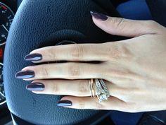 Entity gel polish. Almond nails.