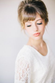 10 WAYS TO WEAR YOUR BANGS ON YOUR WEDDING DAY