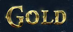 Photoshop Tutorial: Shining Golden Text Effect Creation