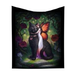 Black cat painting, crafts with pictures, fairy pictures, fantasy fairies, Fantasy Creatures, Mythical Creatures, Fairy Pictures, Butterfly Fairy, Fairy Art, Crazy Cats, Faeries, Fantasy Art, Fantasy Fairies