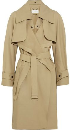 Chloé Convertible leather trench coat on shopstyle.com