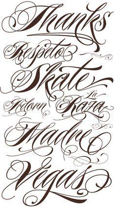 cursive tattoos font - Google Search
