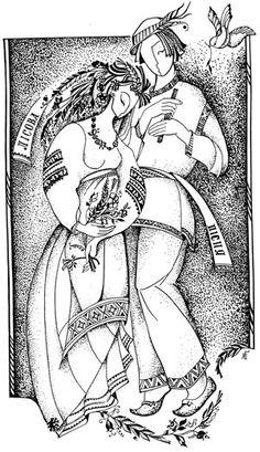 лісова пісня - Fashion Illustration Sketches, Illustrations, Art Sketches, Art Drawings, Illustration Art, Russian Folk, Russian Art, Images Noêl Vintages, Ukrainian Art