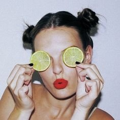 Just a case of Lemon eyes. See, I told you, you're all mine. Lemon Eyes, Foto Portrait, Diane Arbus, Make Up Inspiration, Film Photography, Red Lips, Belle Photo, Beauty Hacks, Beauty Secrets