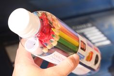 This woman will mail anything she can think of. A flip flop as a postcard, this bottle of craft supplies using a water bottle as a packing tube. Neat ideas here.