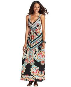 Style Dress, Sleeveless Scarf-Print Maxi - Dresses - Women - Macy's