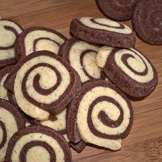 Galletas de caracoles de vainilla y chocolate
