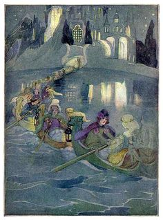 The Golden Wonder Book for Children - my mother would read me stories from this book  which was the copy my grandmother gave to my mother when she was a little girl - the illustrations are delicious -this one is 'The Twelve Dancing Princesses'