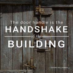 Thought of the Day - Handshake - Greece The door handle is the handshake of the building. Greek Design, Thought Of The Day, Quote Of The Day, Architects, Door Handles, Greece, Thoughts, Building, Photography