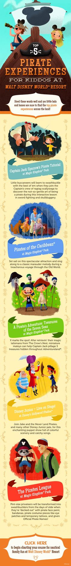 Top 5 Pirate Experiences for Little Ones at Walt Disney World!