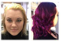 Eine wunderschöne glänzende Farbe gefärbt von Melanie aus dem Team Wilhelmsburg. #Color #Curls #Violet #Autum #Farbe #Herbst #TeamWilhelmsburg #FriseurStippinger Long Hair Styles, Beauty, Sparkle Paint, Hairdresser, Fall, Colors, Nice Asses, Beleza, Long Hair Hairdos