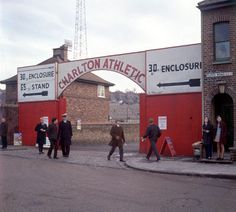 An poster sized print, approx mm) (other products available) - The main entrance to The Valley, home of Charlton Athletic - Image supplied by PA Images - poster sized print mm) made in the UK Charlton Athletic Football Club, Charlton Athletic Fc, Cardiff City, Football Stadiums, Football Fans, Leeds United, East London, Back In The Day, Poster Size Prints