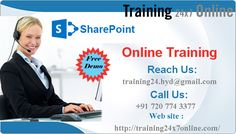 """Training24x7online offers SHAREPOINT Online Training. REACH US : +91 720 774 3377 / training24.hyd@gmail.com http://training24x7online.com/…/share-point-online-training… #Taining24x7online is one of the best Global #Online #Training #Portal for the #students . We are providing"""" #SharePoint """" #Training based on specific needs of the learners especially we will give innovative one to one classes which has great opportunities in the present IT market. Learners can grasp the…"""