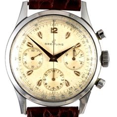 Breitling launched the first wrist chronograph with a pusher at 2:00 in 1915, presented the first dual pusher wrist chronograph with pushers at 2:00 and 4:00 in 1933 and was one of the first manufacturers to recognize the need of early aviators for wrist watches incorporating such devices.  In 1942 Breitling introduced the Chronomat, the worlds first Smart Watch, a chronograph with a rotating logarithmic slide rule that allowed complex calculations with the turn of your fingers.  Throughout…
