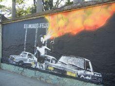 street art, oaxaca city, mexico/ Lapiztola