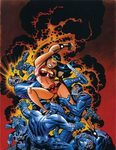 Big Barda Fighting Apokolips Soldiers by Bruce Timm Comic Book Artists, Comic Book Characters, Comic Artist, Comic Character, Comic Books Art, Bruce Timm, Dc Comics Art, Comics Girls, Harley Quinn