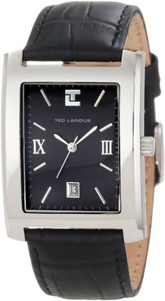Ted Lapidus Men's 5100301 Black Dial Black Leather Watch