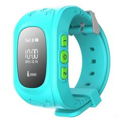 Kid Wrist GPS Tracker Real-time Positioning Tracker Watch SOS blue