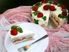 Nejedlé recepty: Smetanový nepečený ovocný dort Cheesecakes, Pancakes, Strawberry, Food And Drink, Snacks, Chocolate, Fruit, Drinks, Eat