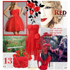 """""""Red"""" by goldgoldiel on Polyvore"""